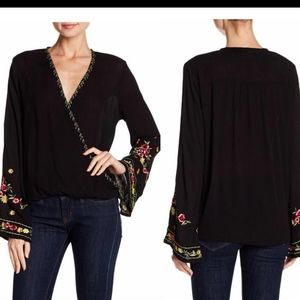 Lovestitch Ella Embroidered Bell Sleeves Size S